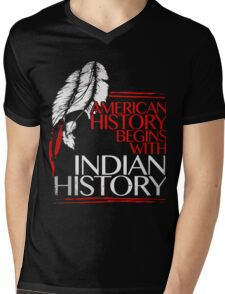 Standing rock, it's land, indian shirt Mens V-Neck T-Shirt