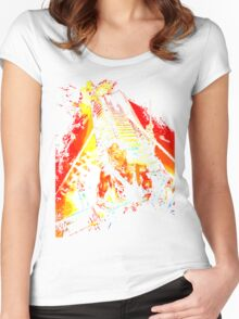nakatomi Women's Fitted Scoop T-Shirt