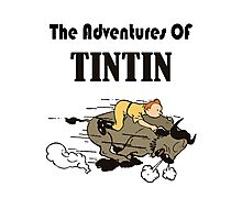 adventures tintin Photographic Print