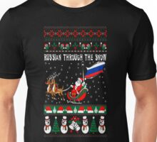 Russian Through The Snow Christmas Ugly Sweater T-Shirt Unisex T-Shirt
