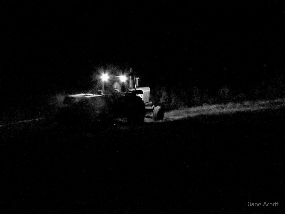 Farmer's Hours...Bailing Hay At Midnight by Diane Arndt
