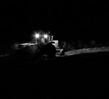 Farmer's Hours...Bailing Hay At Midnight by trueblvr