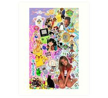 90's, childhood. Art Print