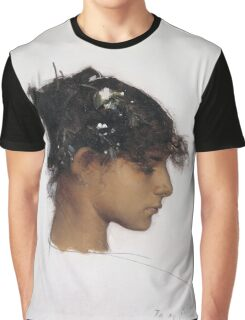John Singer Sargent - Head Of A Capri Girl. Girl portrait: cute girl, girly, female, pretty angel, child, beautiful dress, face with hairs, smile, little, kids, baby Graphic T-Shirt