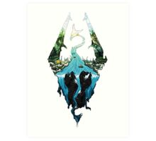 Skyrim dragonborn Art Print