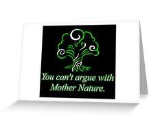 Green Mana: Harmonious Destruction Greeting Card