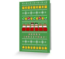 Super Ugly Christmas Sweater + Card Greeting Card