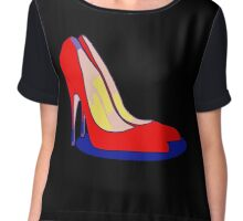 All You Need is Red Pumps Chiffon Top