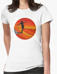 Glide Girl ~ on Summer Static vinyl Womens Fitted T-Shirt