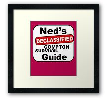 Ned's Declassified Compton Survival Guide Framed Print