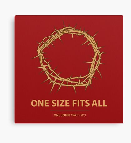 One Size Fits All Canvas Print