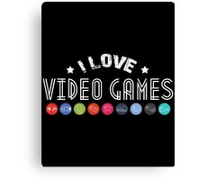 gamer  i love video games Canvas Print