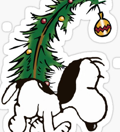 snoopy in christmas Sticker