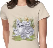 Mama Chihuahua and her babies  Womens Fitted T-Shirt