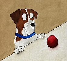 Jack Russell ''That's where my ball went!'' by archyscottie
