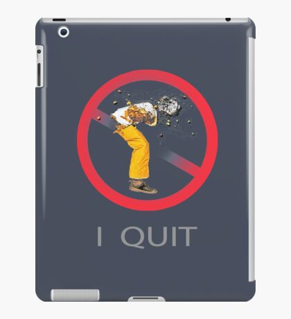 Quit Smoking and Coughing iPad Case/Skin