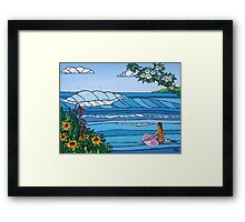 Perfect Paddle Out Framed Print