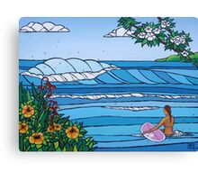 Perfect Paddle Out Canvas Print