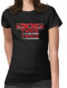 xxXXxx Twice The Action Twice The Charms Sextuple Secret Agent  Movie Lover T-Shirt Design Womens Fitted T-Shirt