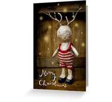 Christmas card - antlers and stripes Greeting Card