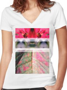 Natural Symmetry Women's Fitted V-Neck T-Shirt