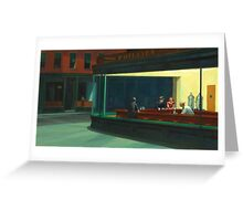 Vintage Edward Hopper Nighthawks Diner Greeting Card
