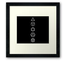 PLATONIC SOLIDS - COSMIC ALIGNMENT  Framed Print
