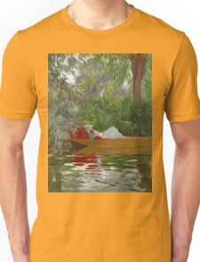 John Singer Sargent - Under The Willows. Lake landscape: trees, river, land, forest, coast seaside, waves and beach, marine naval navy, lagoon reflection, sun and clouds, nautical panorama, lake Unisex T-Shirt