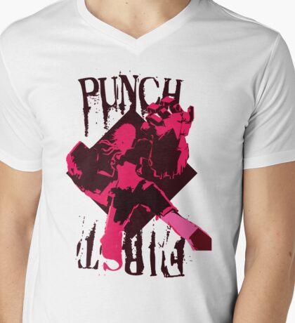 PUNCH FIRST Mens V-Neck T-Shirt
