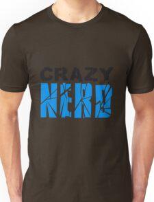 nerd geek schlau hornbrille zahnspange freak pickel haarig monster wuschelig verrückt lustig comic cartoon zottelig crazy cool gesicht  Unisex T-Shirt