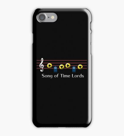 Song of Time Lords iPhone Case/Skin