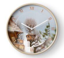 Funny wooden tree house Clock