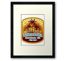 Bora Bora Sunset Paradise Framed Print