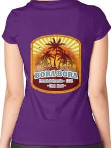 Bora Bora Sunset Paradise Women's Fitted Scoop T-Shirt