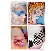 Four painted mannequins - tiled arrangement Poster