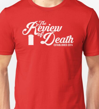 'The Review of Death' Vintage Swirl Logo Unisex T-Shirt