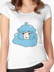 Blue Haired Girl Women's Fitted Scoop T-Shirt