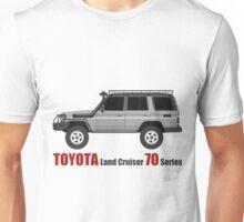 TOYOTA Land Cruiser 70 Series HZJ77 (side)(bullbar) Unisex T-Shirt