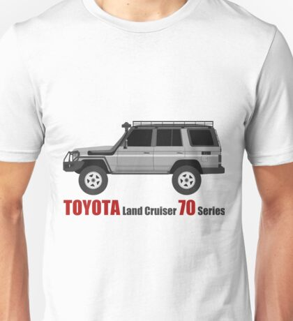 TOYOTA Land Cruiser 70 Series HZJ77 (side)(bullbar) (machito) Unisex T-Shirt