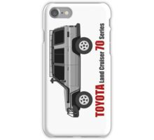 TOYOTA Land Cruiser 70 Series HZJ77 (side)(bullbar) iPhone Case/Skin