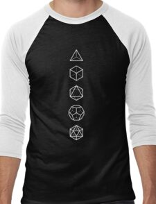 PLATONIC SOLIDS - COSMIC ALIGNMENT  Men's Baseball ¾ T-Shirt