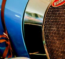 BUGATTI; Vintage Grille and Light Print Sticker