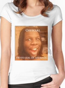 Official Proto seal of approval Women's Fitted Scoop T-Shirt
