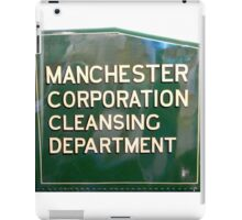 Manchester Corporation Cleansing Dpartment iPad Case/Skin