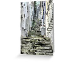The Streets of Bergen (3) Greeting Card