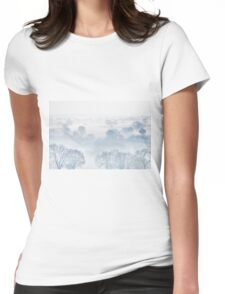 Ethereal Morning Mist Womens Fitted T-Shirt