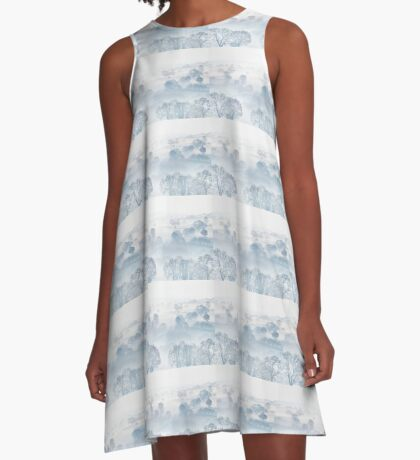 Ethereal Morning Mist A-Line Dress