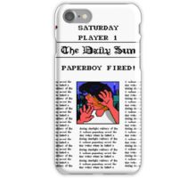PAPERBOY 2 - GAME OVER SCREEN (2) iPhone Case/Skin