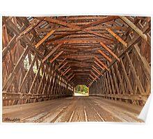 The Edgell Covered Bridge Poster