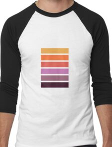 Colour Pallet - Dahlia colours Men's Baseball ¾ T-Shirt